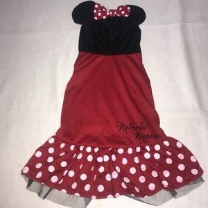 Disney Minnie Mouse Pet Animal Dog Costume Outfit
